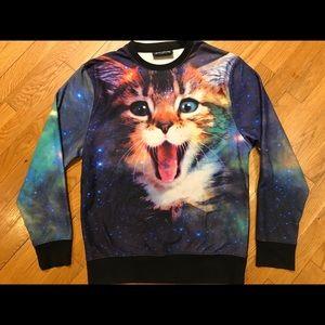 Fifth Sun Space Cat Sweater Size S Intergalactic